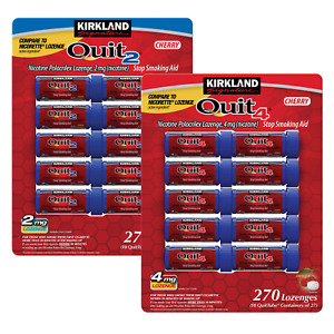 Kirkland Signature Quit 2mg. or 4mg., Cherry Lozenges, 270 Pieces