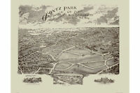 Map of Ogontz Park, Montgomery County; Philadelphia; Antique Map c.1880