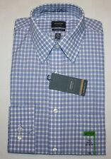 Mens 14 1/2 Arrow Dress Shirt Blue Bird Plaid 32/33 Classic S Poplin White