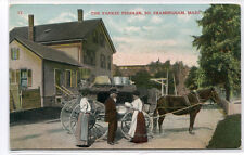 Yankee Peddler Horse Wagon South Framingham Massachusetts 1908 postcard