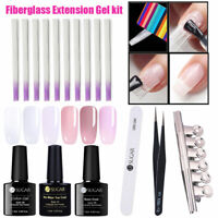 10pcs/pack Fibernails Fibra di vetro for Nail Extension Acrylic Nail Tip DIY Set