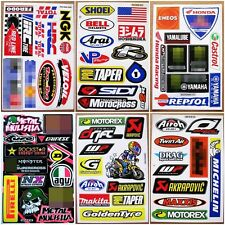 Nascar Dirt Bike Motocross Decal Racing Sponsor ATV Car Rossi Stickers 6 sheets