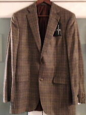 NWT BLACK & BROWN (Lord & Taylor)100% Finest Tailored Wool $495 Size 40-L (SC15)