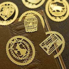 10-tlk Gold Vogel Käfig Taste Tiere Lesezeichen Metall Bookmark