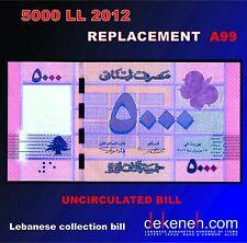 5000 Livres 2012  UNC REPLACEMENT .......- Lebanon - Liban - Libano