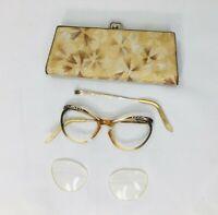 Vintage Eyeglass Case And Broken 12K Gold Filled Eyeglasses