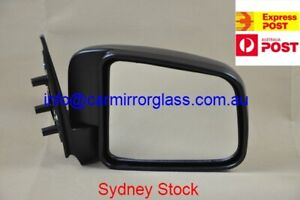 NEW DOOR MIRROR FOR FORD COURIER 1999-2006 (RIGHT SIDE, BLACK, MANUAL)