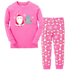 Unisex Baby Boy Girl Sleepwear Pajamas Kids Toddler Xmas Nightwear Outfit Set