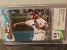2020 Topps Holiday Ronny Rodriguez - Brewers #HW179 Metallic Snowflake CSG 8.5