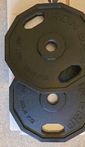 Iron Grip Weigth Plates 45LB Set (2)