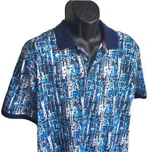ROBERT GRAHAM Mens XL Pechia Skull Abstract Geometric Polo Golf Shirt MSRP $118