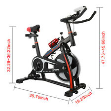 Spinning Exercise Machine Cardio Fitness Gym Bike Black Trainer Flywheel Bicycle