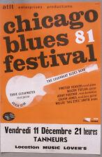CHICAGO BLUES FESTIVAL 81 - AFFICHE ORIGINALE