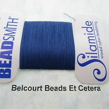 Royal Blue Waxed Nylon Silamide Thread Size A - 40 Yards The Bead Smith