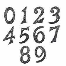 Gusseisen Hausnummern Hausnummer Nummern Industrial Zahl Ziffer Zahlen Ziffern