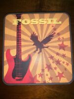 Fossil Collectible Original Metal Tin Empty Box Guitar Eagle Vintage Collector