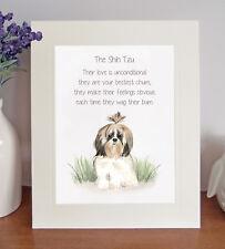 Shih Tzu BESTEST CHUM Novelty Dog Poem Lovely 8 x 10 Picture/10x8 Print Fun Gift