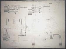 c1868 POWER PLANING MACHINE WITH DETAILS Large ENGRAVING Print