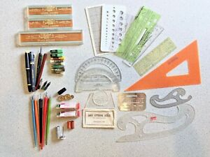 Lot Vtg Drafting Supplies Koh-I-Noor Rapidograph Points Pens Points Stylus Nibs