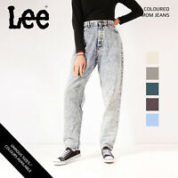 VINTAGE COLOURED LEE HIGH WAISTED WOMENS TAPERED MOM JEANS 26 27 28 29 30 32 34