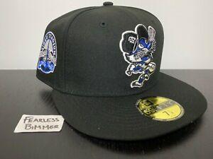 New Era MLB Detroit Tigers Size 7 1/4 Coked Out Swinging Black Royal Blue UV