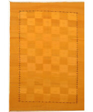 Yellow 7' x 9' Kilim Rug Hand Knotted Persian Rug
