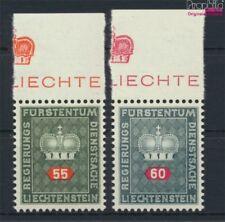 Liechtenstein d40y-d41y blanc papier neuf 1950 timbres de service (9082162