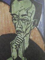 Erich HECKEL (1883-1970) - Männerbildnis, Holzschnitt 1919