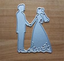 Stanzschablone Hochzeit Liebe Brautpaar Schachtel Papier Karte Album Deko DIY