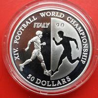 NIUE-Savage Islands: 50 Dollars 1990 Silber,KM# 75, #F 0597, PP-Proof