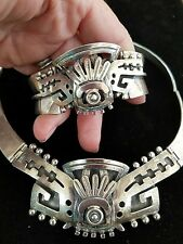 VINTAGE TAXCO ALFREDO VILLASANA NECKLACE AND BRACELET STERLING SILVER 925 Mexico