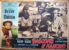 FOTOBUSTA ORIGINALE BASCOMB IL MANCINO 46 Bad Bascomb Wallace Berry