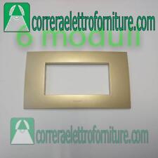 LEGRAND VELA placca quadra 6 moduli oro metallizzato 685768