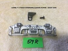 LIONEL early F-3 SILVER SIDE FRAMES with steps and mounting screws