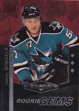10-11 Black Diamond Tommy Wingels /100 Rookie Ruby Triple Sharks 2010