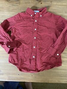 Janie and Jack boys size 4 button up red long sleeve
