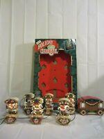 Mr Christmas Holiday Carousel Light Musical 6 Horses Circus Organ 21 Songs 1992