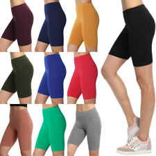 17a4d80f86 TheMogan Women's Mid Thigh Cotton Span Active Short Leggings Yoga Sport  Layer