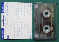 MC Musicassetta TDK FE FERRIC 60 vintage compact cassette audiotape USATA °