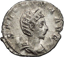 Salonina Valerian I daughter in law  Silver Ancient Roman Coin Venus Cult i55130