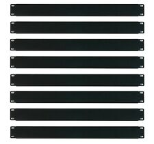 "(8) OSP 1 Space Blank Rack Case Panels 19"" 1U Single Space cover filler Black"