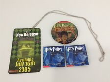 Lot of 4 Harry Potter Book Promotion Pin/Button
