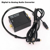 Optical Coaxial Toslink RCA L/R Digital to Analog Audio Converter Adapter