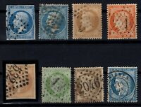 PP135291/ FRANCE STAMPS – YEARS 1854 - 1871 USED CLASSIC LOT – CV 195 $