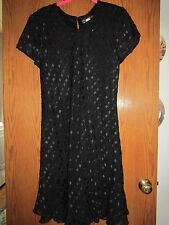 """Jaclyn Hart short sleeve """"little black dress"""" - Size 14"""
