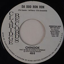 CHINOOK: Da Doo Ron Ron CLARIDGE 45 Promo 1974 Garage Rock Spector XO Hear!