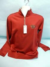 MLB Arizona Diamondbacks Men's Leader Pullover, Cardinal/Silver, Medium