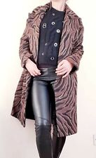 ZARA NEW brown zebra printed long coat size xs