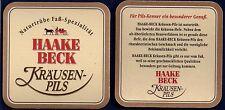 HAAKE BECK  - KRÄUSEN PILS  BEERCOASTER FROM GERMANY  JA16007