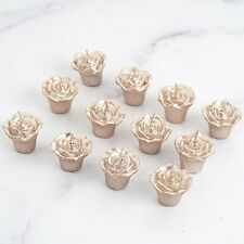 12 Rose Gold Mini Roses Floating Candles Party Wedding Centerpieces Supplies